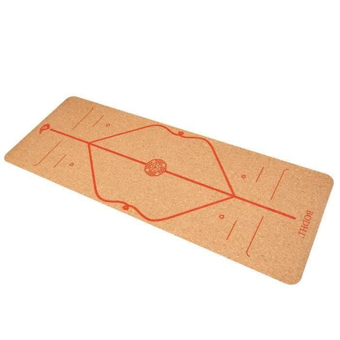 Tapis de Yoga 183X65cm 6mm TPE Antidérapant Anti-rides Sport Fitness Gym Exercice Rouge Modèle