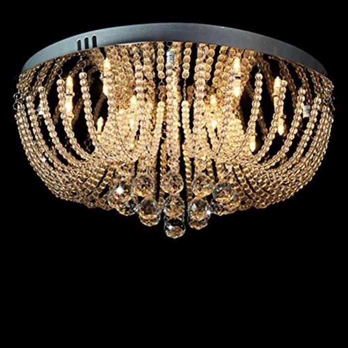 Lustre moderne Lustre à cristaux liquides Luminaires suspendus D50cm H20cm Ronde
