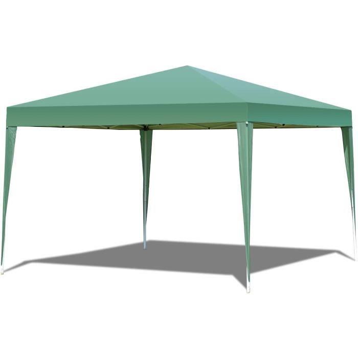 Tonnelles de camping RELAX4LIFE Tonnelle de Jardin Pliable Tente de Réception Toile Imperméable Structure en Acier Galva 327794