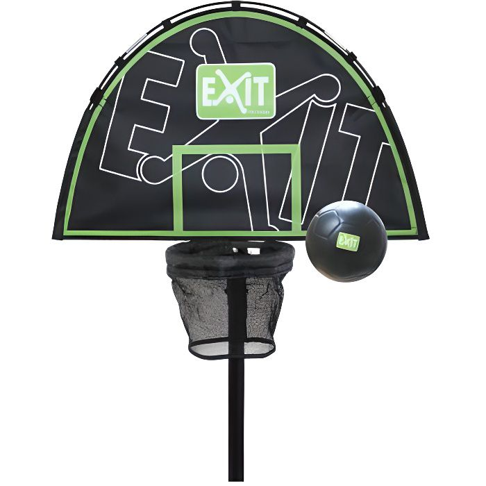 EXIT panier de basket+ mini ballon en mousse pour Trampoline