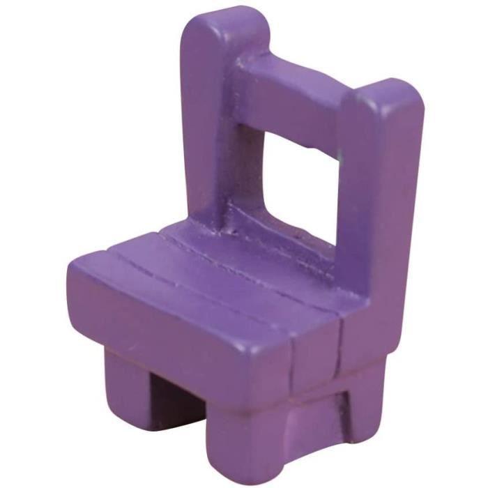 Coffrets de poupées et accessoires SUPVOX Chaise en résine modèle Miniature Meubles pour décoration de Maison de poupée 324013