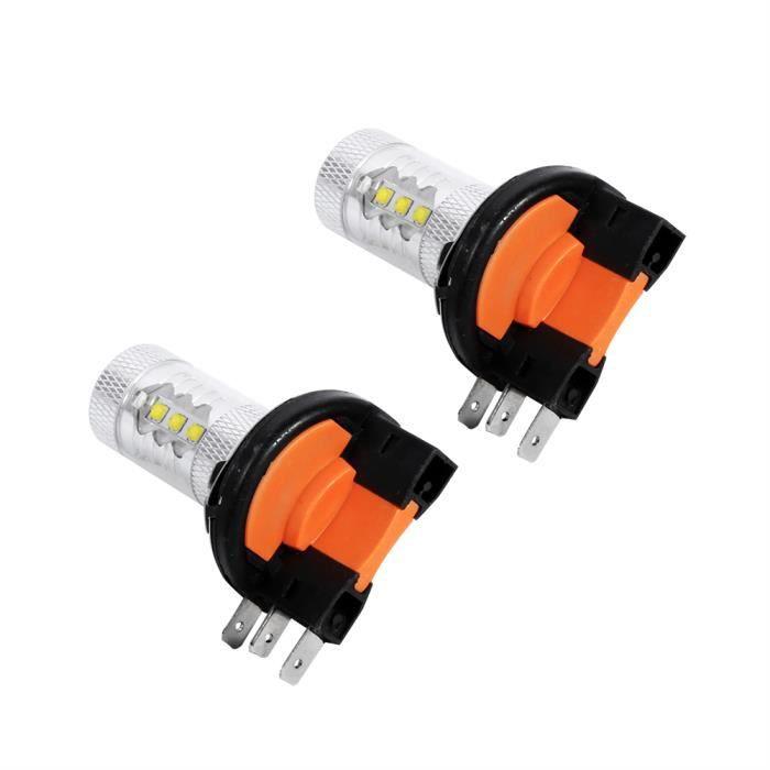 Drfeify phare de voiture 2pcs HID Blanc 80W H15 LED Ampoules Lumières Lampe