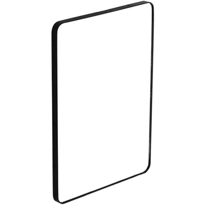 miroir rond noir metal 50 cm 60cm 70 cm 80 cm Rectangle cadre en meacutetal noir miroirs suspendus deacutecoratifs pour salo[69]