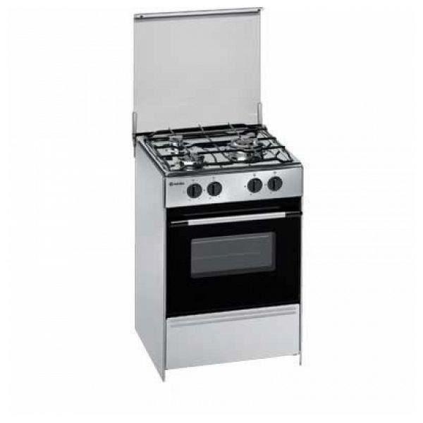 Cuisinière à Gaz en acier inoxydable 60 cm 53 L