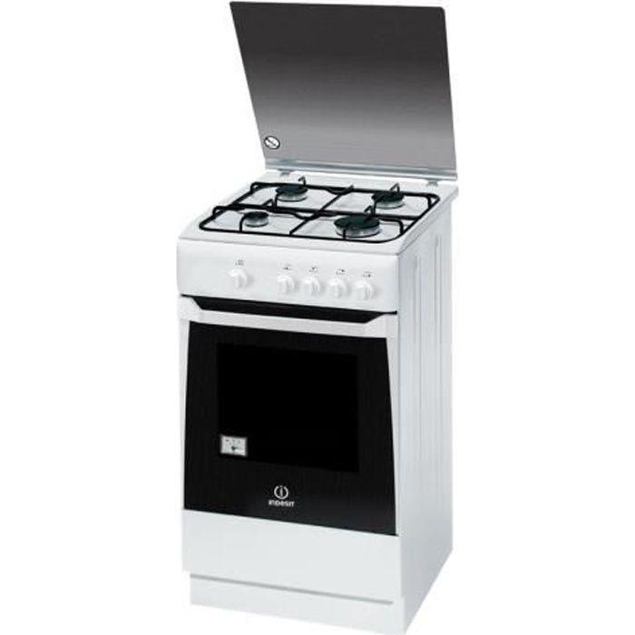 Indesit KN1G20S(W)-I Cuisinière pose libre largeur : 50 cm profondeur : 50 cm hauteur : 85 cm blanc