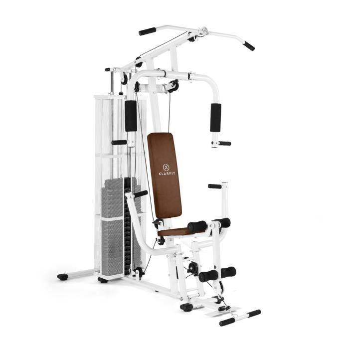 Klarfit Ultimate Gym 3000 Station de musculation multifonction avec presse : Appareil fitness & poids (+ de 30 exercices possibles)