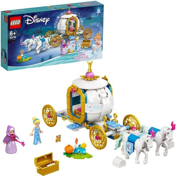 LEGO® Disney Princess™ 43192 Le carrosse royal de Cendrillon incluant les figurines de Cendrillon, de sa marraine et des chevaux