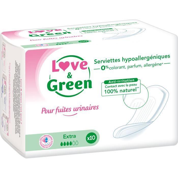 Love & Green Serviettes incontinence super x10