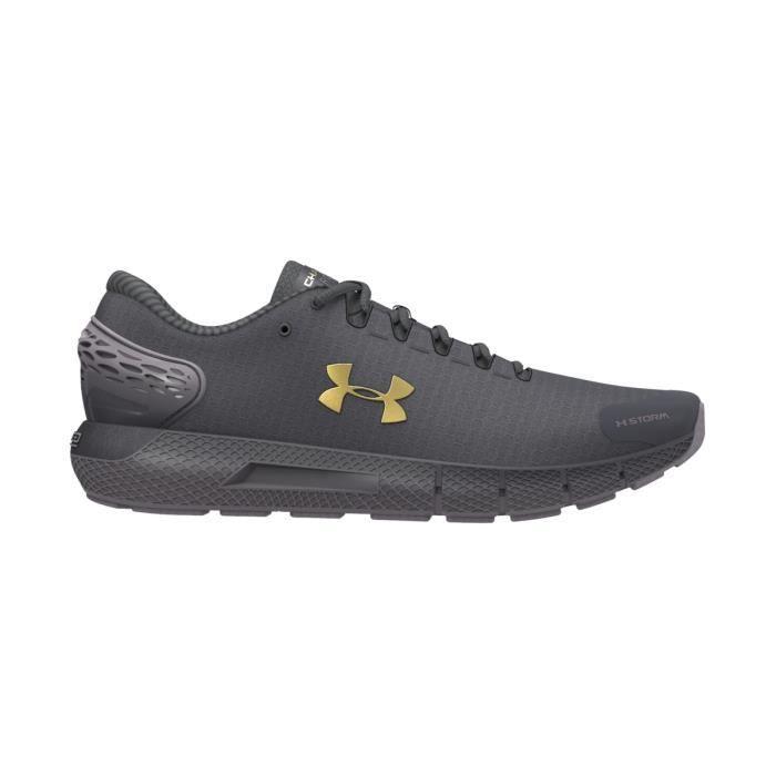 Chaussures de running de running femme Under Armour Charged Rogue 2 ColdGear Infrared - violet foncé/doré métallique/gris anthracite