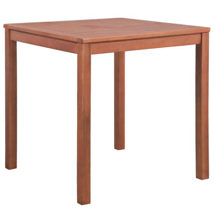 Magnifique Economique Table carrée d'extérieur à dîner Bois d'acacia 80x80x74 cm