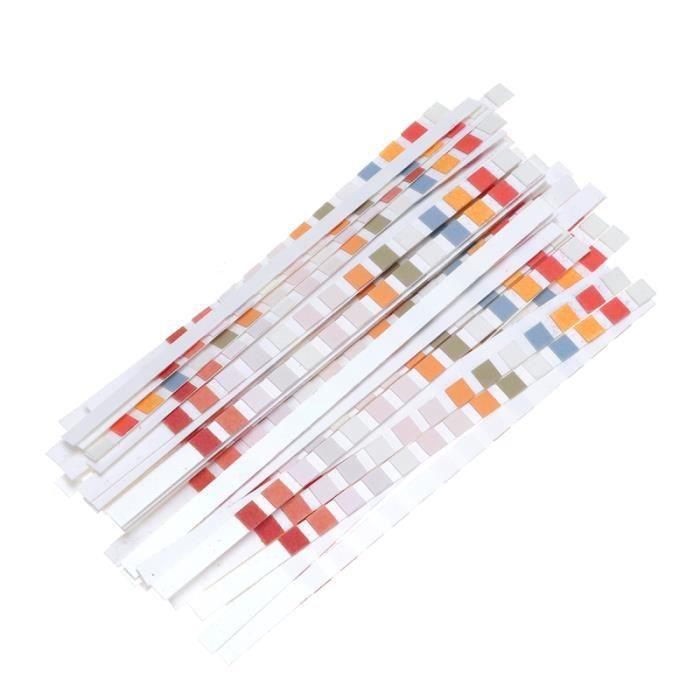 50 pièces papier test PH dureté de l'eau pratique qualité de bandelettes de feuille USTENSILES DE MESURE - USTENSILES DE CONTROLE