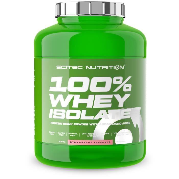 100% Whey Isolate 2kg FRAISE Scitec - Pure Protéine Iso 2000g