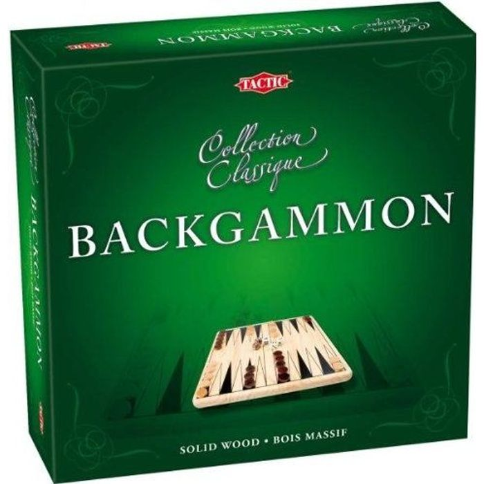 TACTIC Coffret Backgammon en Bois