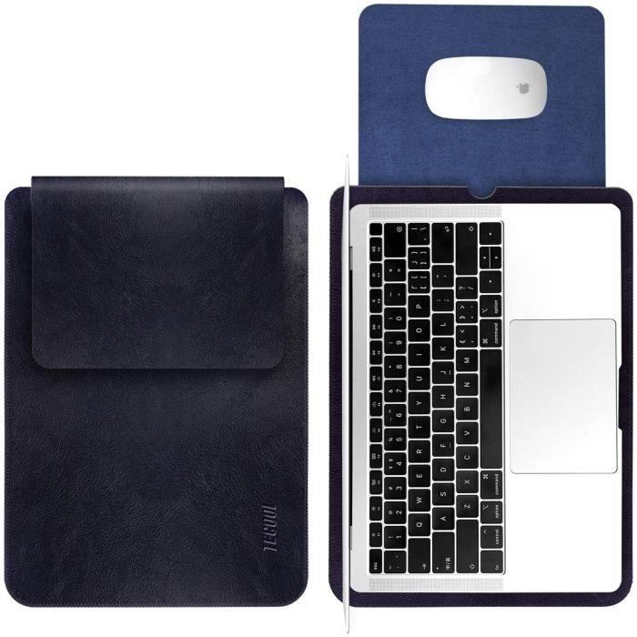 TECOOL 13 Pouce Housse pour Ordinateur Portable, Laptop Sleeve Pochette Étui pour Macbook HP Envy Dell XPS - Bleu Royal