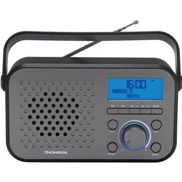 Thomson RT300, Portable, Numérique, AM,FM,LW, LCD, 3,5 mm, Gris
