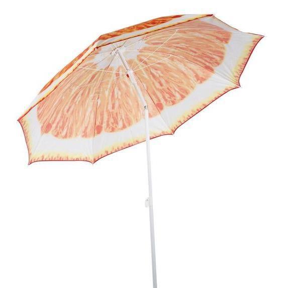 TOM parasol de plage Sinaasappel190 cm polybutène / aluminium orange