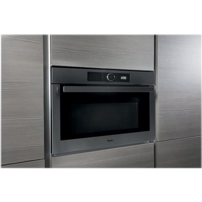 Whirlpool Absolute AMW 508-IX Four micro-ondes combiné grill intégrable 40 litres 900 Watt acier inoxydable
