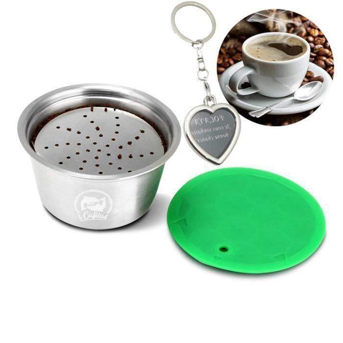 MOTH28026-Capsule Filtre de Café Réutilisables tasse de filtre à café réutilisable en acier inoxydable pour Nespresso Dolce Gusto