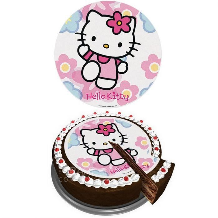 Disque Azyme Sucre Hello Kitty Achat Vente Figurine Decor Gateau