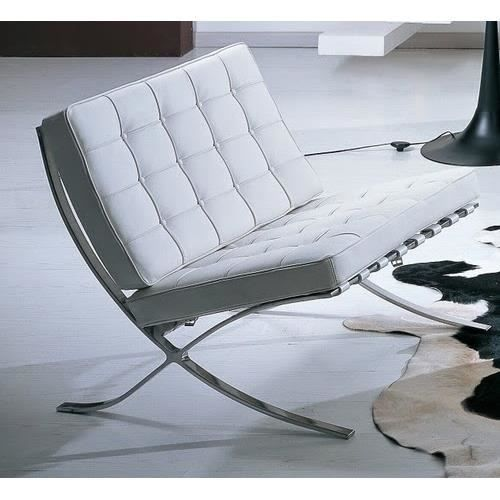 fauteuil design barna sbl simili cuir blanc achat. Black Bedroom Furniture Sets. Home Design Ideas