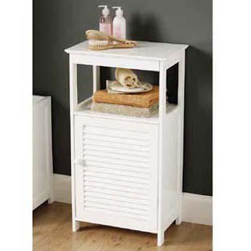shutter commode de salle de bain blanc achat vente. Black Bedroom Furniture Sets. Home Design Ideas
