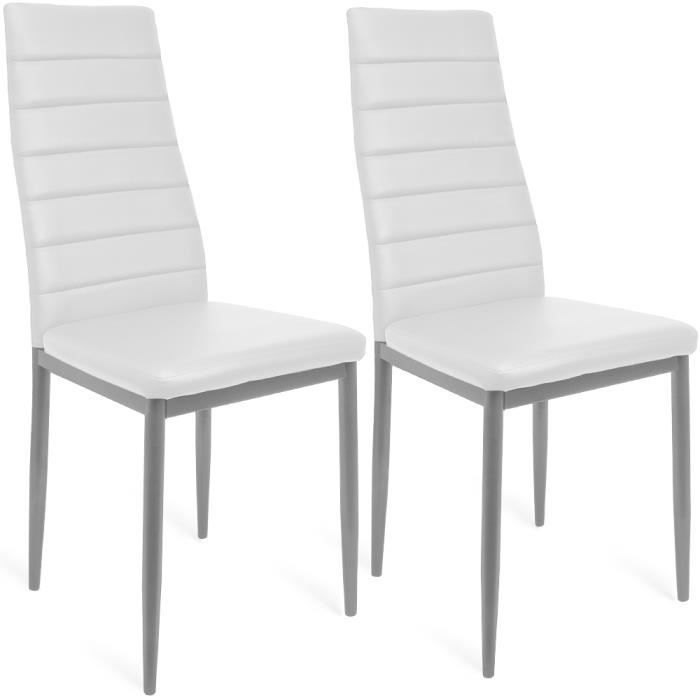 set de 2 chaises de salle manger stockholm blanc achat vente chaise blanc cdiscount. Black Bedroom Furniture Sets. Home Design Ideas