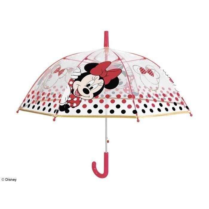 Parapluie Forme Cloche Fille Minnie Gris