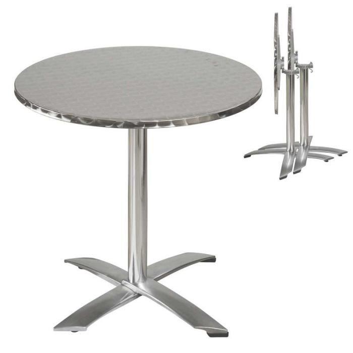 Table de jardin ronde en aluminium - Achat / Vente table de ...