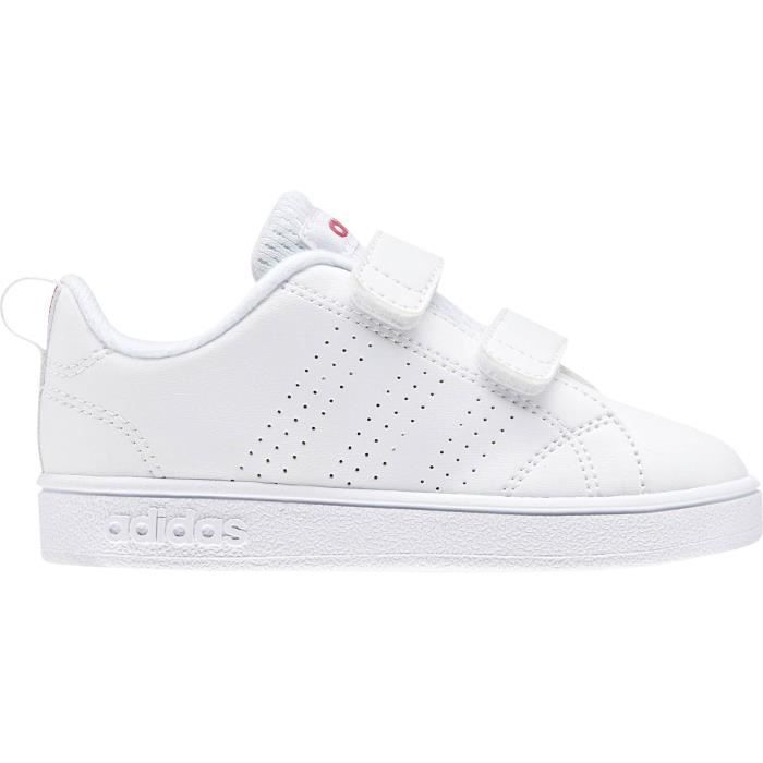 ADIDAS Baskets Advantage Clean Vlc - Bébé fille - Blanc et ...