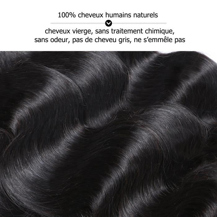PERRUQUE - POSTICHE 3 tissage bresilien 100g/p cheveux naturel virgin