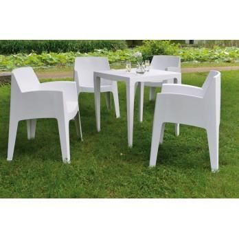 Table de jardin r sine carr e en r sine master achat vente table de jar - Table de jardin en resine en solde ...