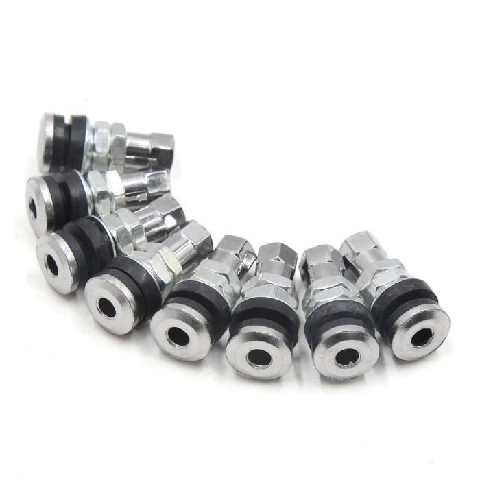 2Pcs 90 degr/és angle en alliage daluminium tubeless pneu valve tige couvercle bouchon Ton argent pour voiture moto
