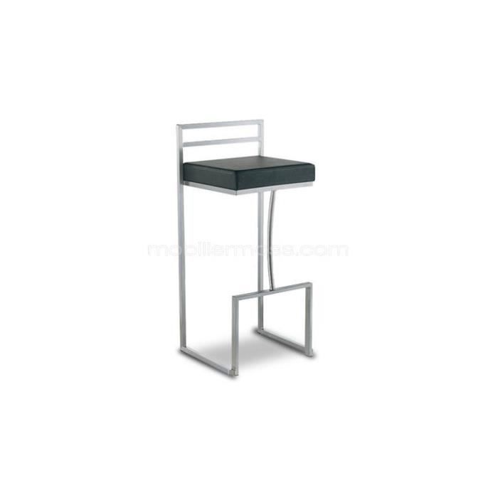 tabouret inox de bar ou cuisine design hauteur assise 76. Black Bedroom Furniture Sets. Home Design Ideas