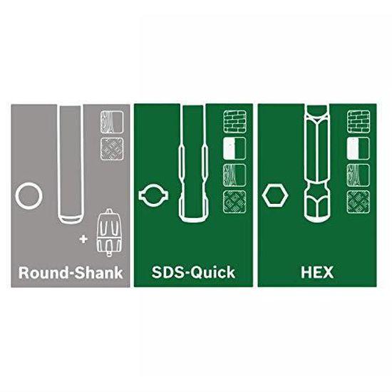 2 batteries, syst/ème 18 V, dans coffret Bosch perforateur sans fil Uneo Maxx