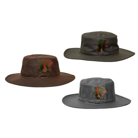 marron unisexe Chapeau cir/é /à bord large Outback Aussie Walker /& Hawkes