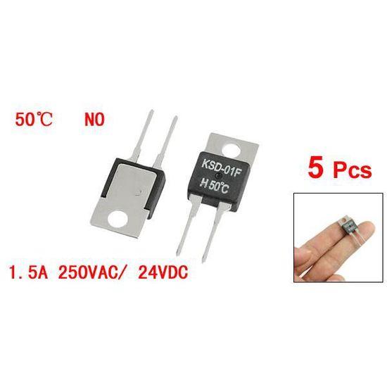pas 45 /°C Normalement ouvert. Electronics-Salon 10pcs Interrupteur KSD301 Temp/érature Thermostat bim/étallique Disc