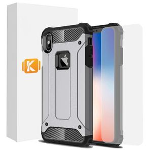 COQUE - BUMPER Pack Apple iPhone X/XS - 1 Coque Aromr + 1 Verre T
