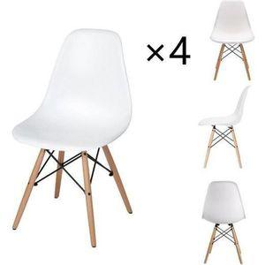 CHAISE DORAFAIR Lot de 4 Chaises Design scandinave Chaise