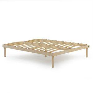 SOMMIER Sommier à lattes de bois, lit double 160 x 200 x36