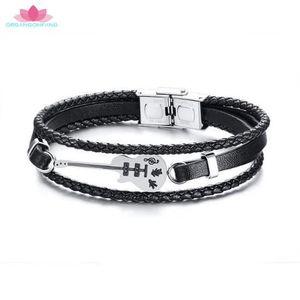 BRACELET - GOURMETTE Bracelet homme Bijoux-21cm La mode Tendance Acier