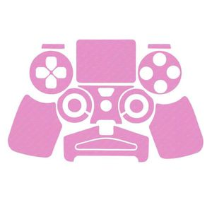 STICKER - SKIN CONSOLE Sticker aspect carbone Rose pour manette PS4