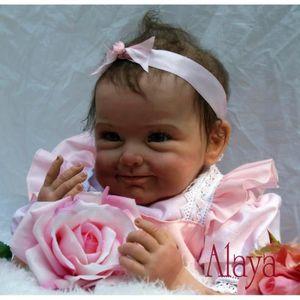POUPÉE 55cm brun Yeux Réaliste bébé reborn fille poupée e