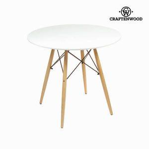 TABLE À MANGER SEULE Craftenwood - Table blanche laquée en bois de hêtr
