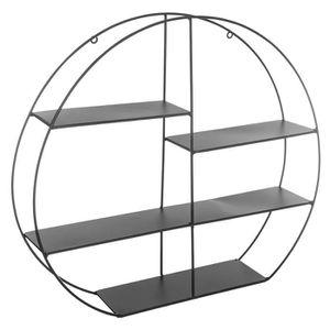 ETAGÈRE MURALE Étagère murale en métal ronde noir Autres Noir