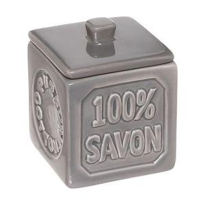DISTRIBUTEUR DE COTON Five - Pot à Coton Gris en céramique 100% Savon