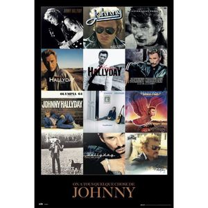 AFFICHE - POSTER Affiche Johnny Hallyday Covers