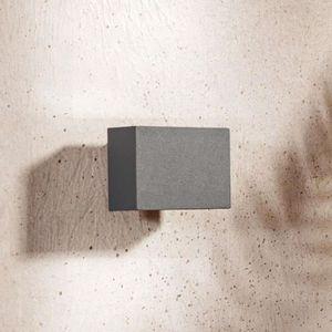 2er Set DEL design Down Spots Extérieur Projecteur Porte ip44 alu appliques murales balcon