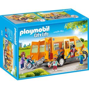 UNIVERS MINIATURE PLAYMOBIL 9419 - City Life L'école - Bus scolaire