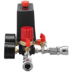 Commutateur de commande de pression de compresseur dair de 72,5~175psi 4trou simple 220V pour la valve de commande de pompe de compresseur dair G1