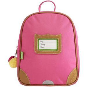 SAC À DOS Tann's - Petit sac à dos rose maternelle avec pomp